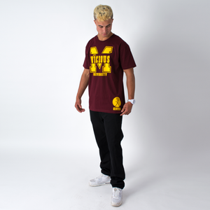 Mac Vicious University T-shirt Burgundy