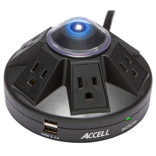 Accell D080B Powramid Power Center and USB Charging Station - Charging Station