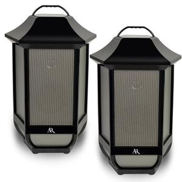 Acoustic Research AWSEE2BK2PKU 2-Piece Indoor/Outdoor Wireless Bluetooth Hanging Lantern Speaker w/3.5mm Aux Jack - Bluetooth Speaker