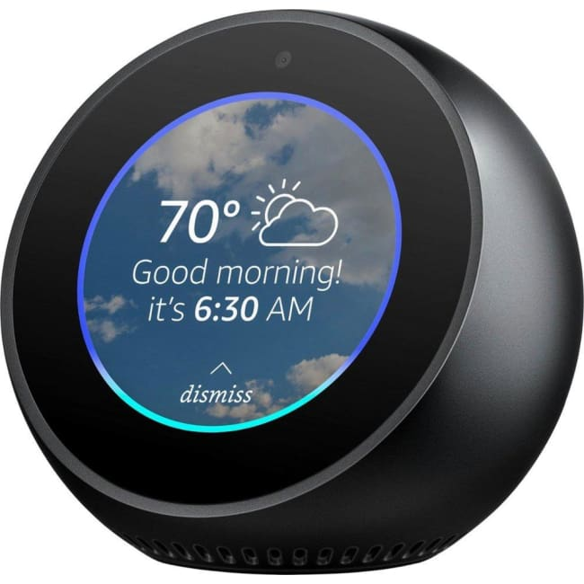 Amazon Echo Spot Smart Speaker with Alexa - Black - A - Smart Speaker