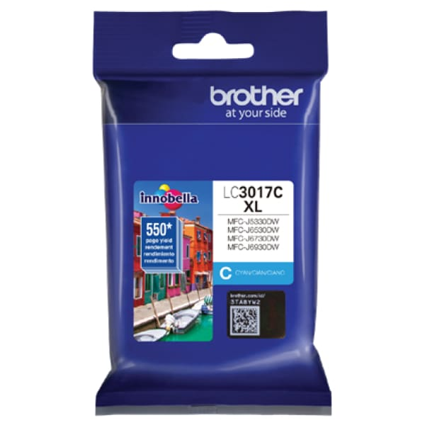 Brother LC3017C High Yield Cyan Ink Cartridge - INK