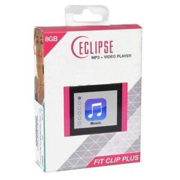 Eclipse Eclipse Fit Clip Plus 8gb Mp3 + Video Player (Pink) - MP3 Player