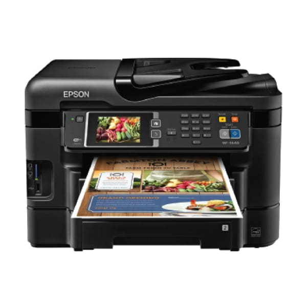 Epson WorkForce WF-3640 USB w/3.5 Touch LCD (No Ink) (A Grade) - printer