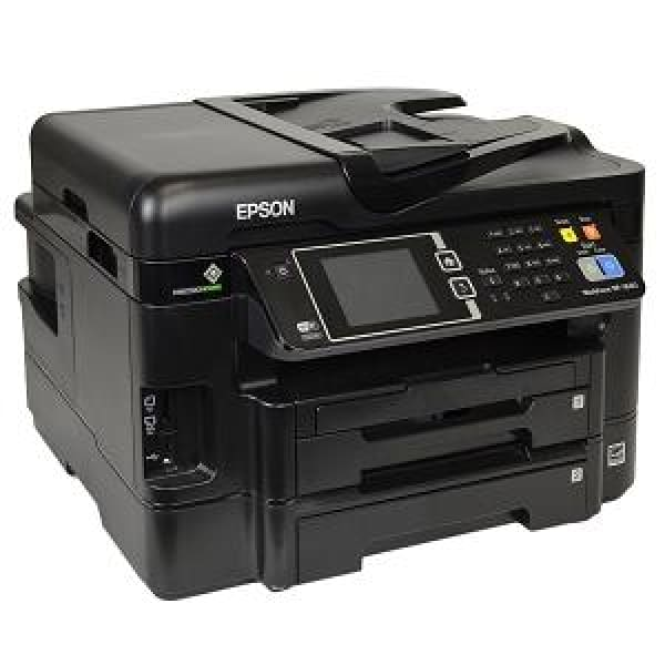 Epson WorkForce WF-3640 USB/Ethernet/WiFi-Inkjet Scanner Copier Fax Photo Printer w/3.5 Touch LCD (No Ink) - printer