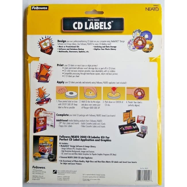 Fellowers Neato CD Labeler Kit - accessories