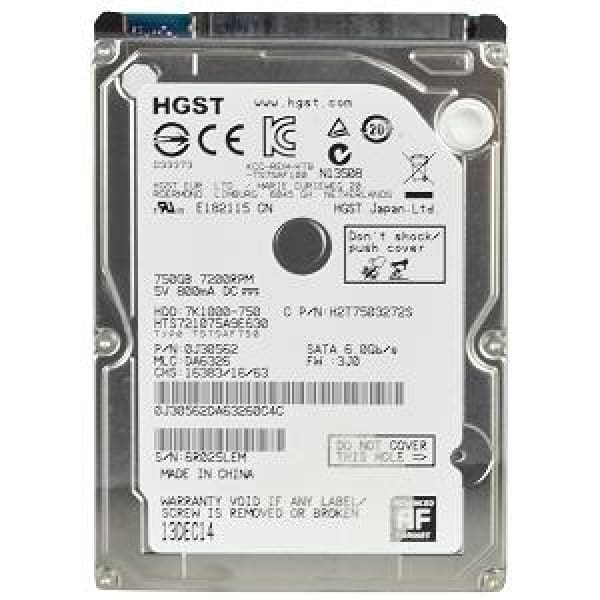 Hitachi Travelstar 7K1000 750GB SATA/600 7200RPM 32MB 2.5 Hard Drive - Hard Drive