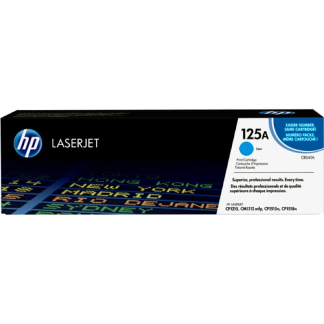 HP 125A (CB541A) Cyan Original LaserJet Toner Cartridge