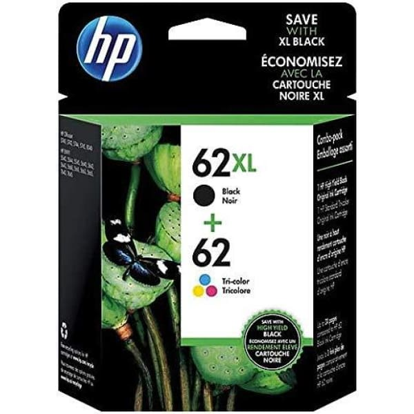 HP 62 XL Black and Color Inkjet Cartridges 2 Pack - INK