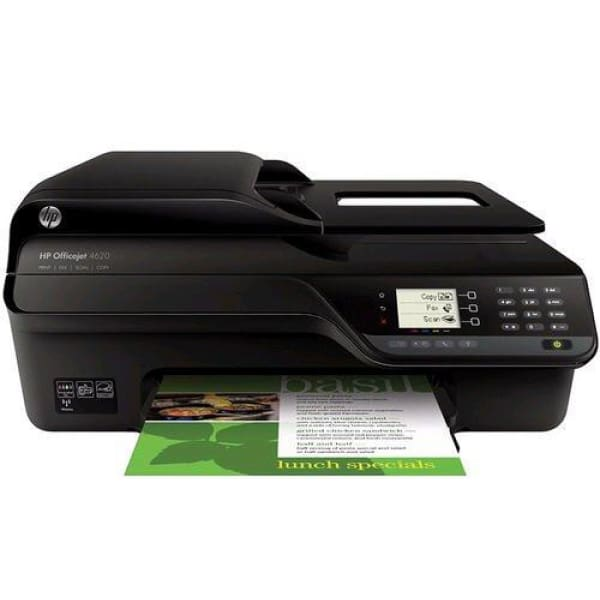 HP OfficeJet 4620 e-All-in-One Ink Jet Printer- NO INK-Black - printer