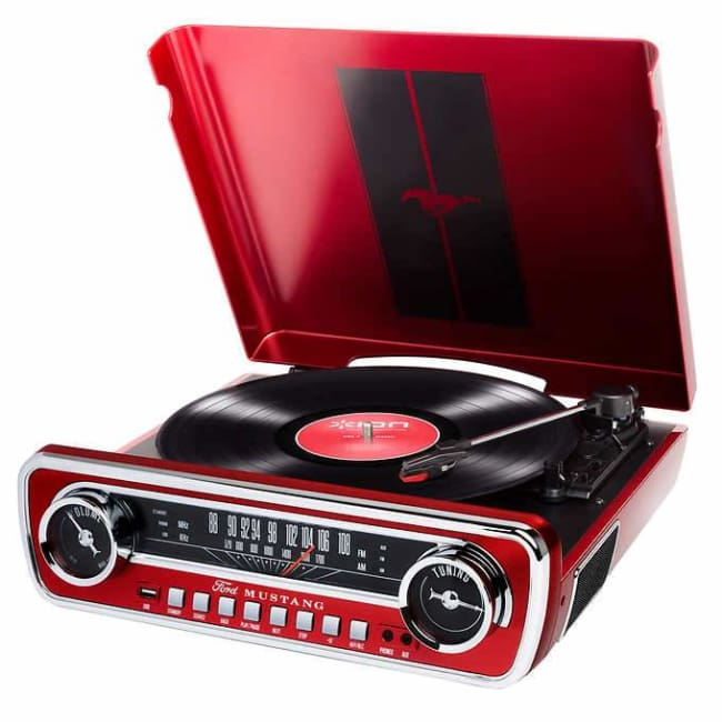 ION MUSTANG LP iT69 4-in-1 Turntable -RED - Record Tuner