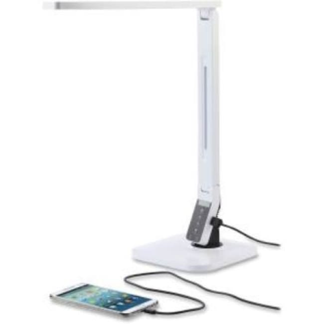 Lorell LED Smart USB Desk Lamp Dimmable White