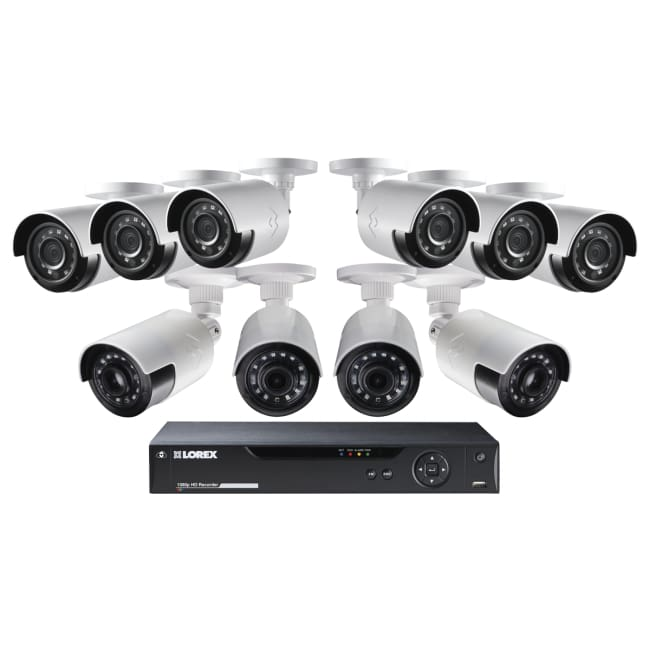 Lorex HD Security System W\10 1080p Ultra-Wide Viewing Cameras