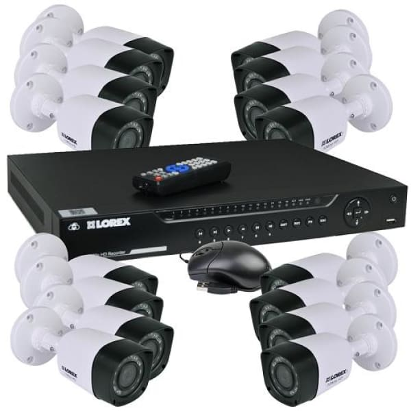 Lorex LHV16212 Security System - 12 1080p Bullet Cameras - Security System