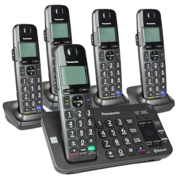 Panasonic KX-TG465SK DECT 6.0 Link2Cell Bluetooth Cordless Phone Set - Phone