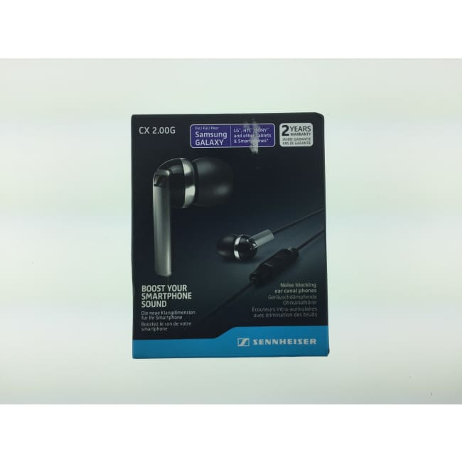 Sennheiser CX 2.00G Black In-Ear Canal Headphones NOB - Headphones