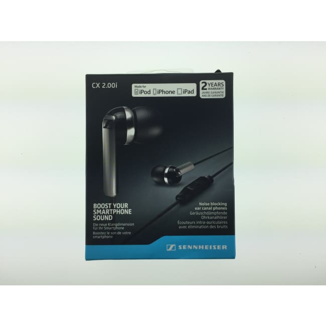 Sennheiser CX 2.00i Black In-Ear Canal Headset Earbuds NOB - Headphones