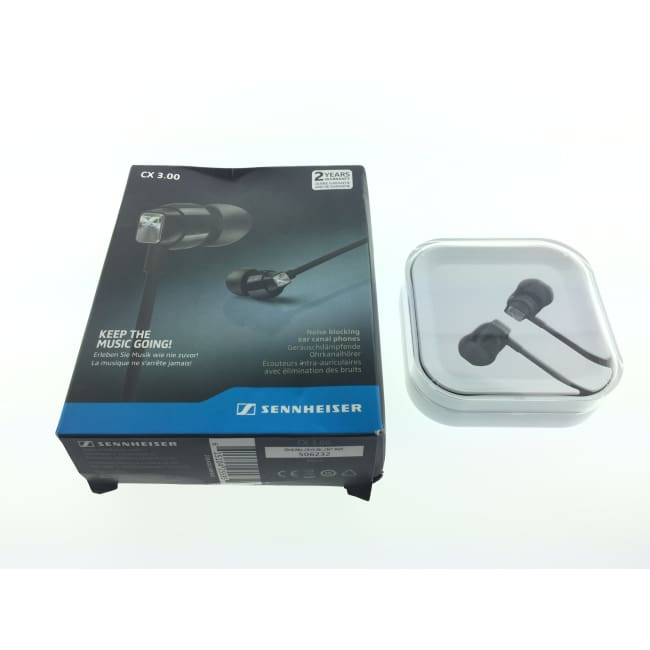 Sennheiser CX 3.00 Wired In-Ear Headphones Black (A) - Headphones