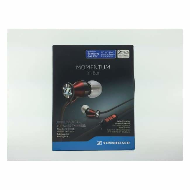 SENNHEISER - M2 IEG - BLACK/RED In-Ear Headphones Andriod (B)