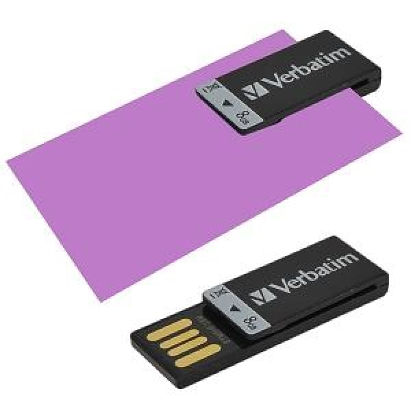 Verbatim Store n Go Clip-it 8GB USB 2.0 Flash Drive (Black) - Flash Drive