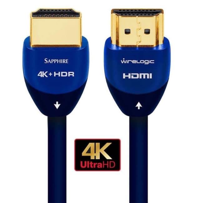 WireLogic WLCC2016 12 Feet 4K HDMI Cable 2 Pack Sapphire (B) - accessories