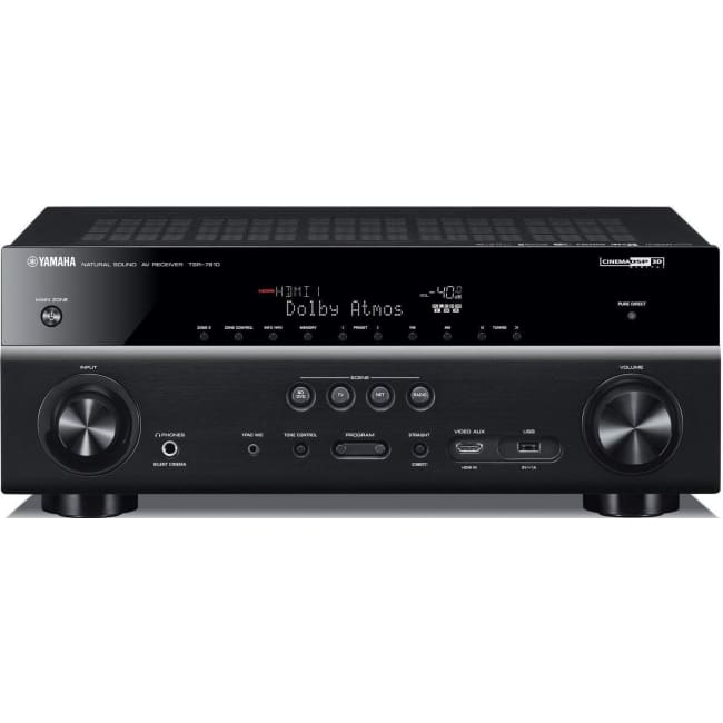Yahama TSR-7810 7.2 Channel Network AV Receiver 4K UHD Black - Receiver