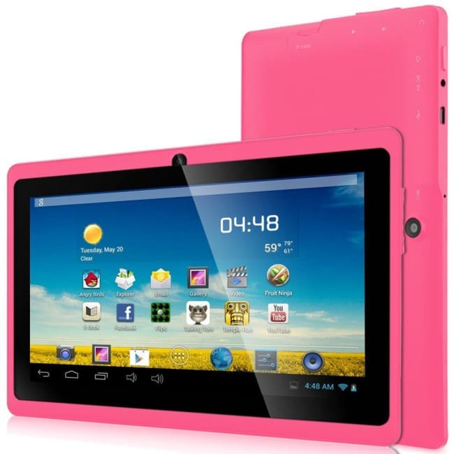 Zeepad Android 4.4 KitKat Quad Core Dual Camera Bluetooth WiFi Tablet (PINK) - Tablet