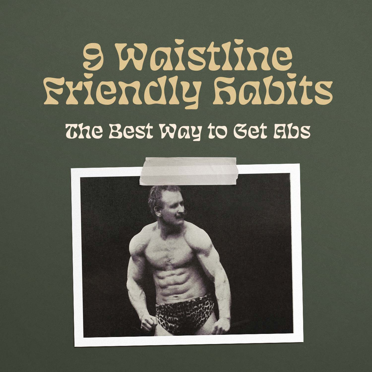 So We Flow... 9 Waistline Friendly Habits Infographic Cover