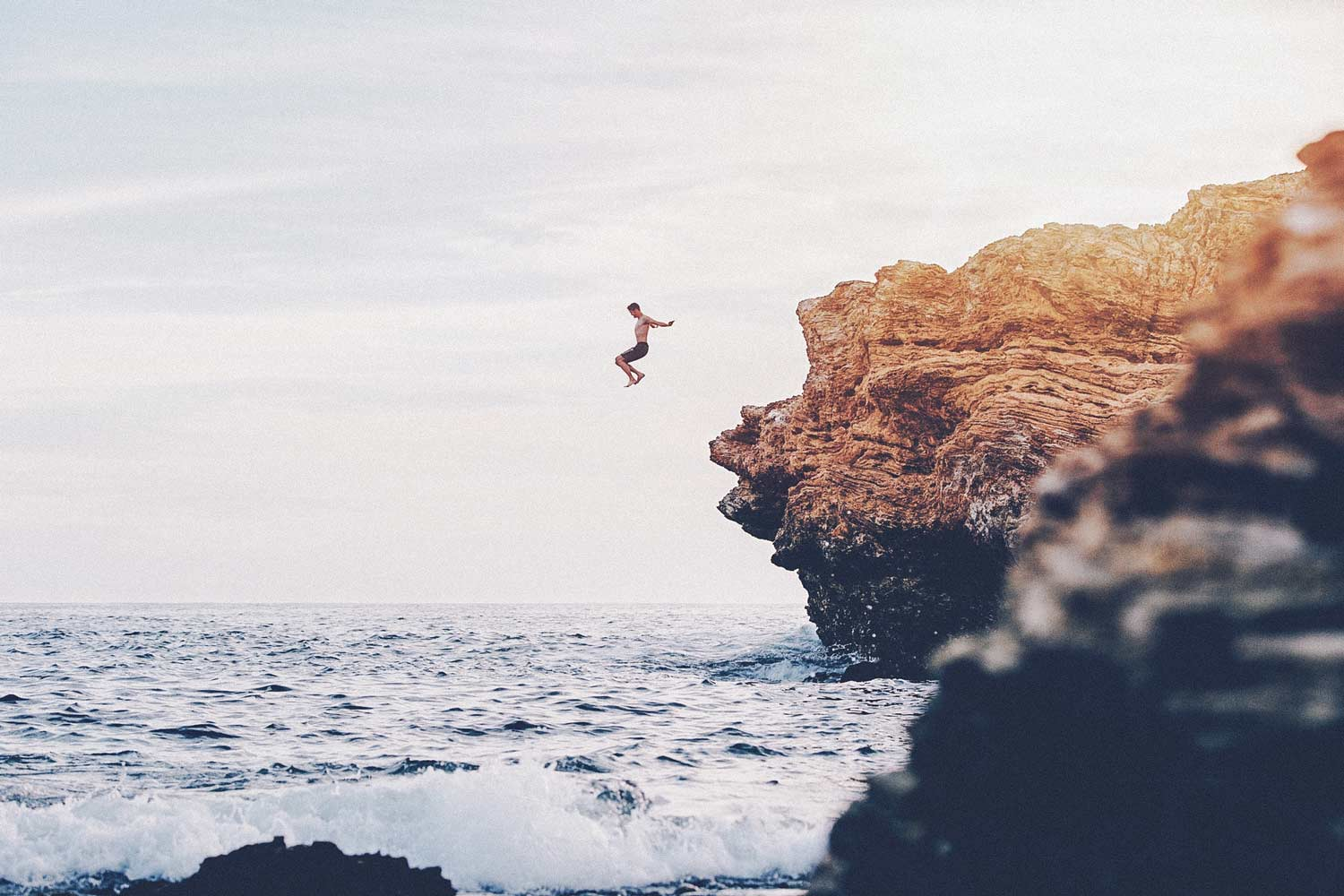 Rock climbing and cliff jumping in Ibiza