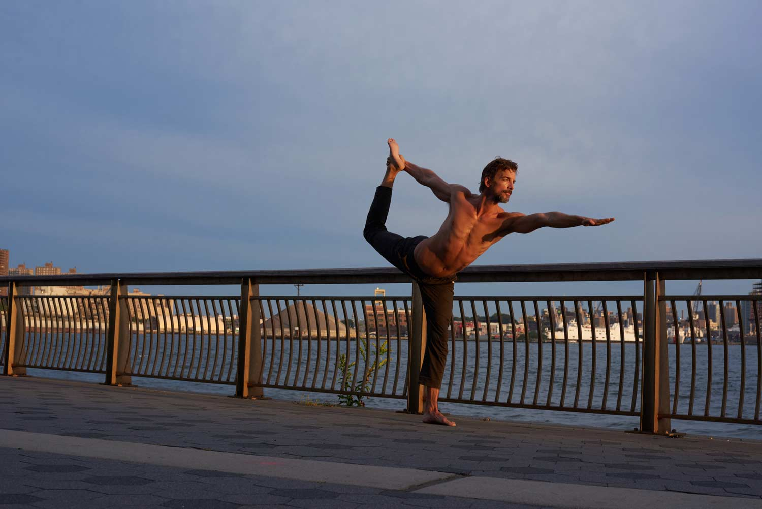 so we flow... William Jude in King Dancer pose
