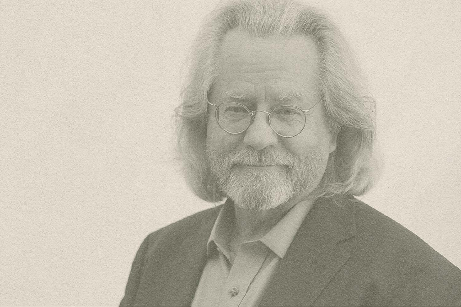 A. C. Grayling looking at the camera