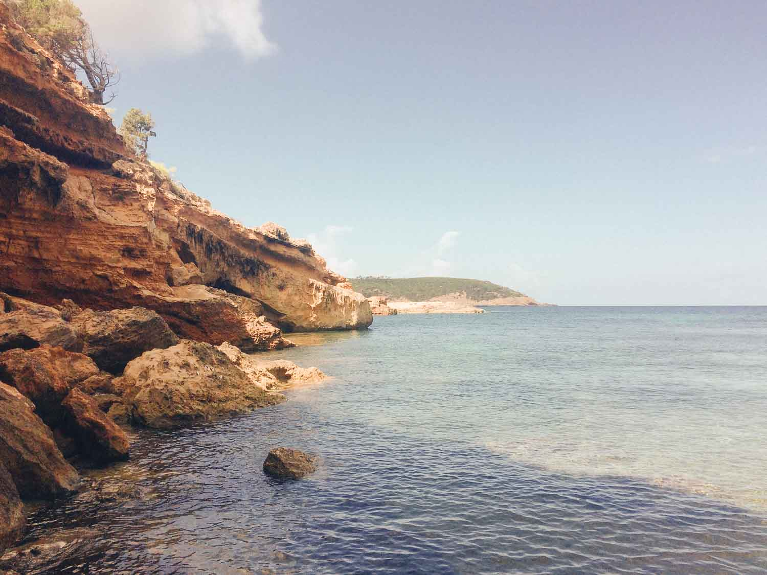 Beautiful Ibiza coastline