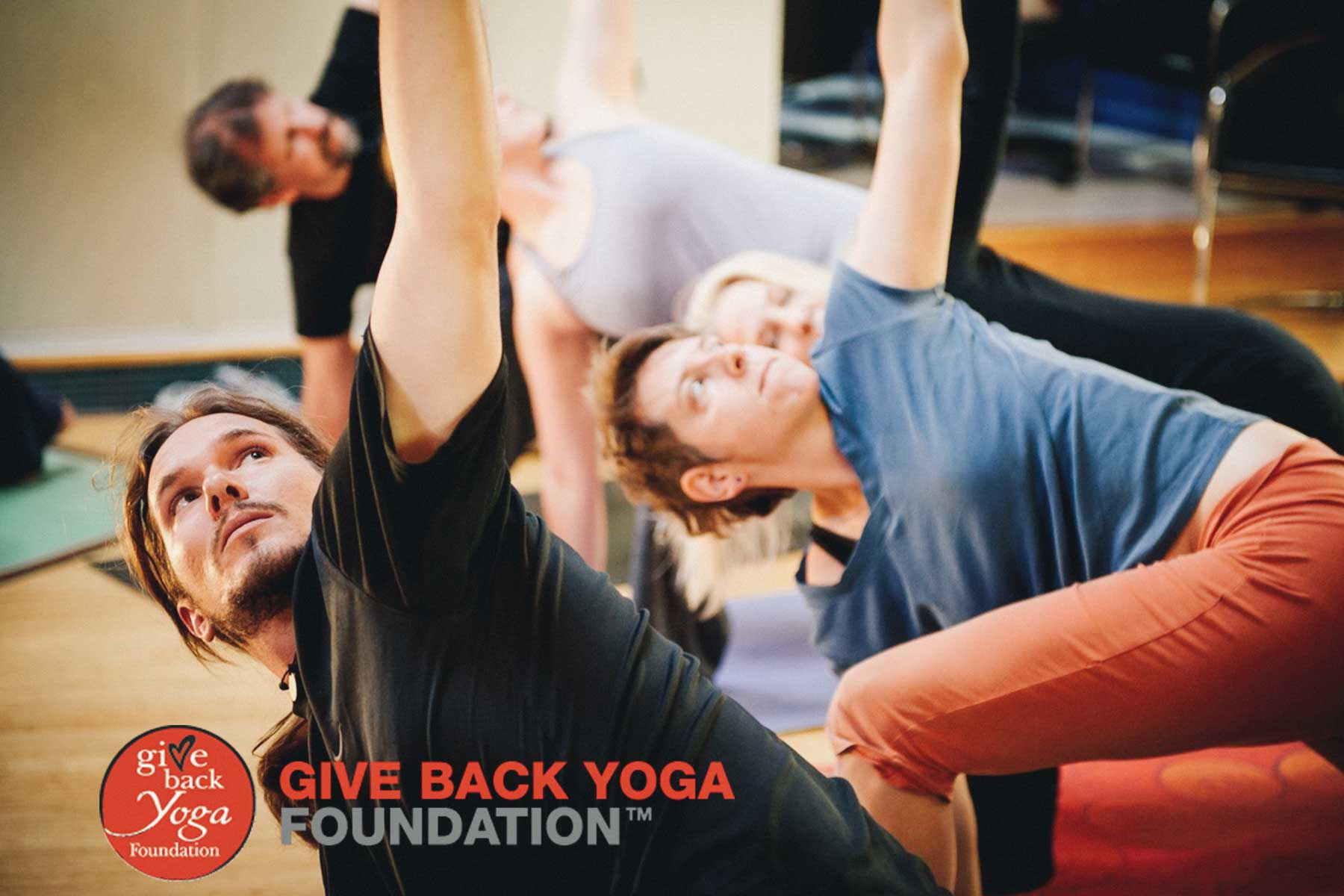 Students of the Give Back Yoga Foundation