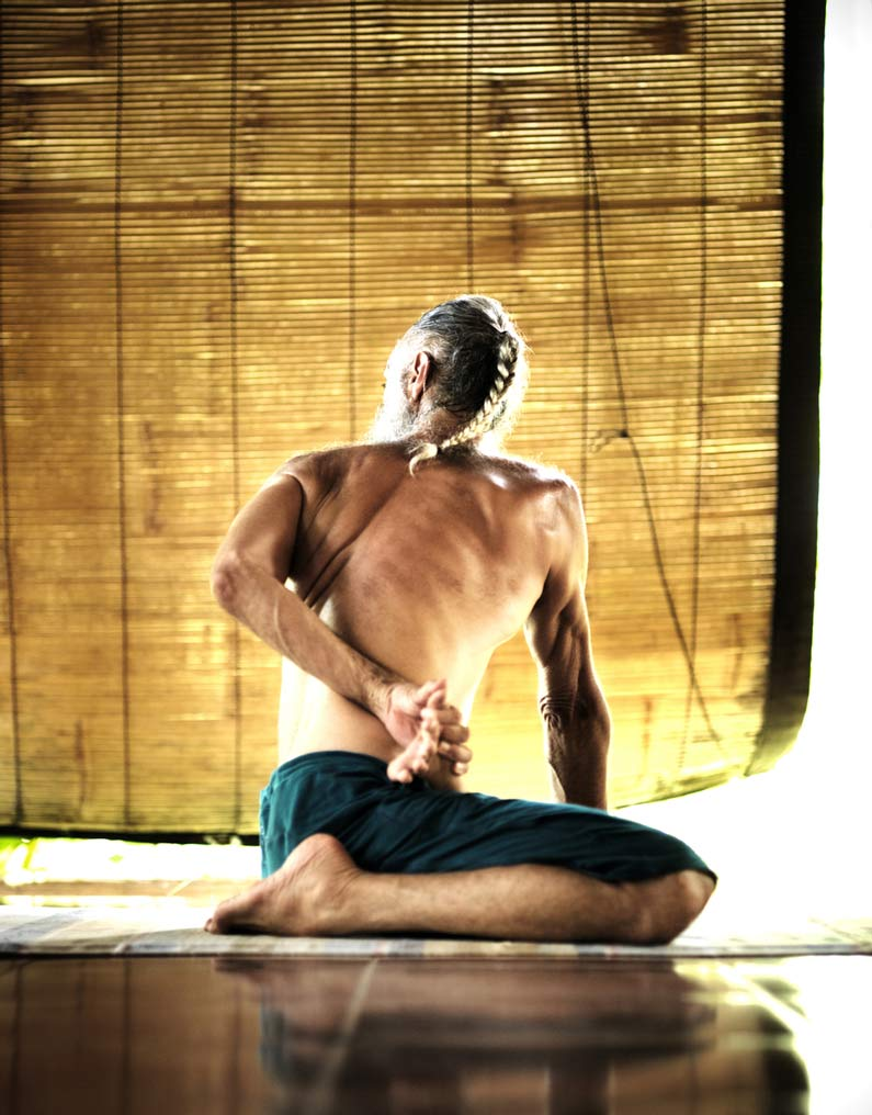 Prem Carlisi by Viktor Bentley. In the shala at Ashtanga Yoga Bali Research Centre.