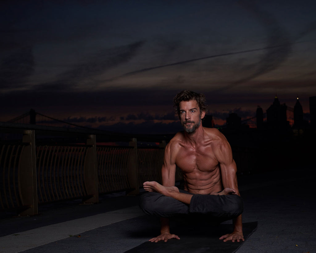 so we flow... William Jude doing yoga at night