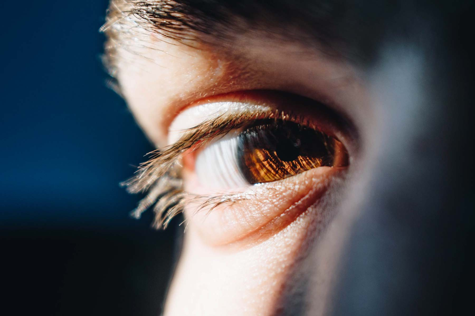 Close up of a man's eye