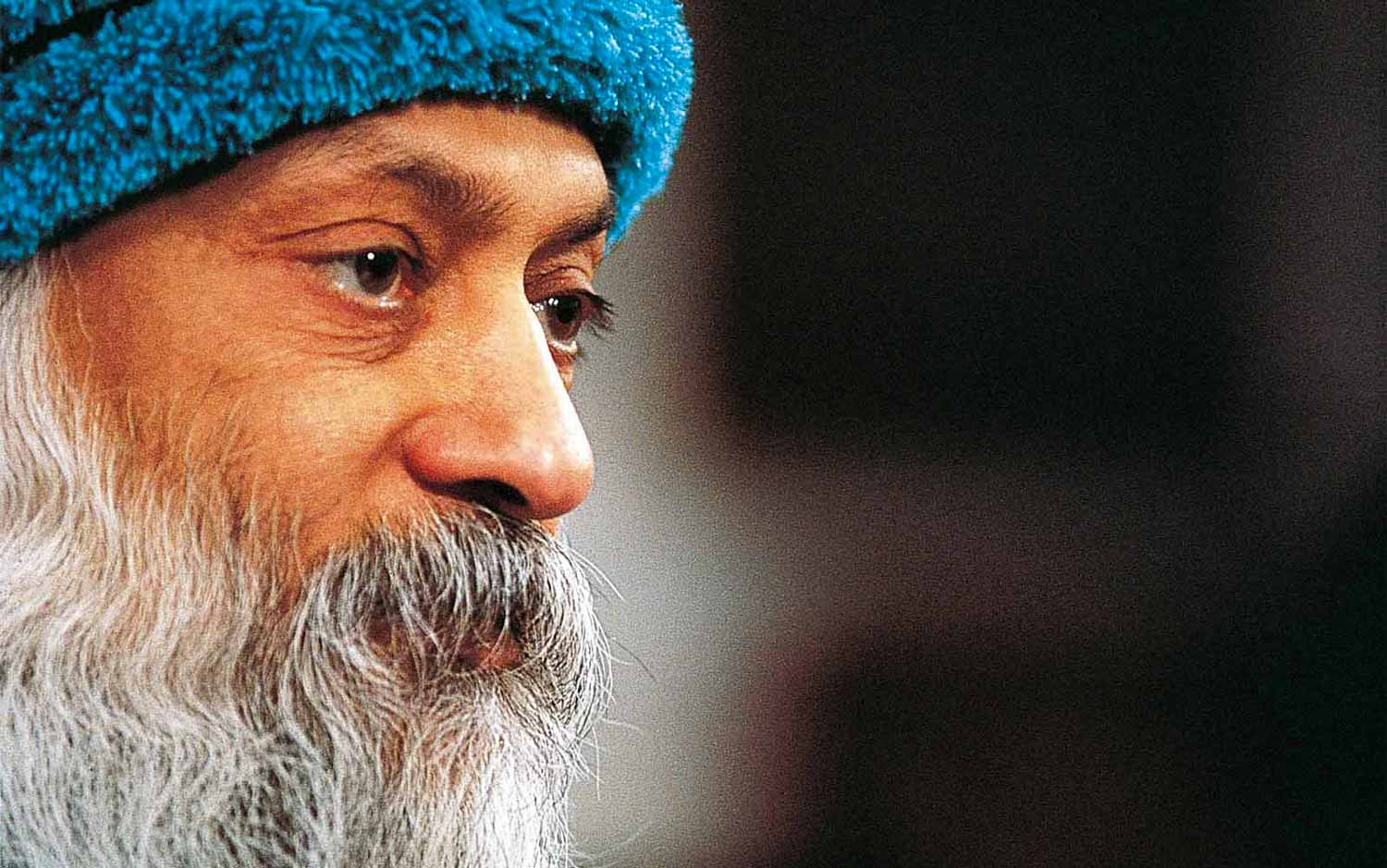 Closeup of Osho's face