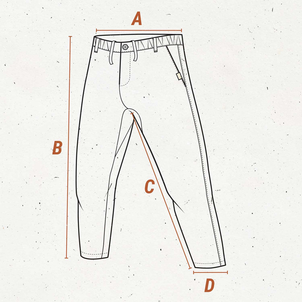 so we flow... Size guide for twill longs