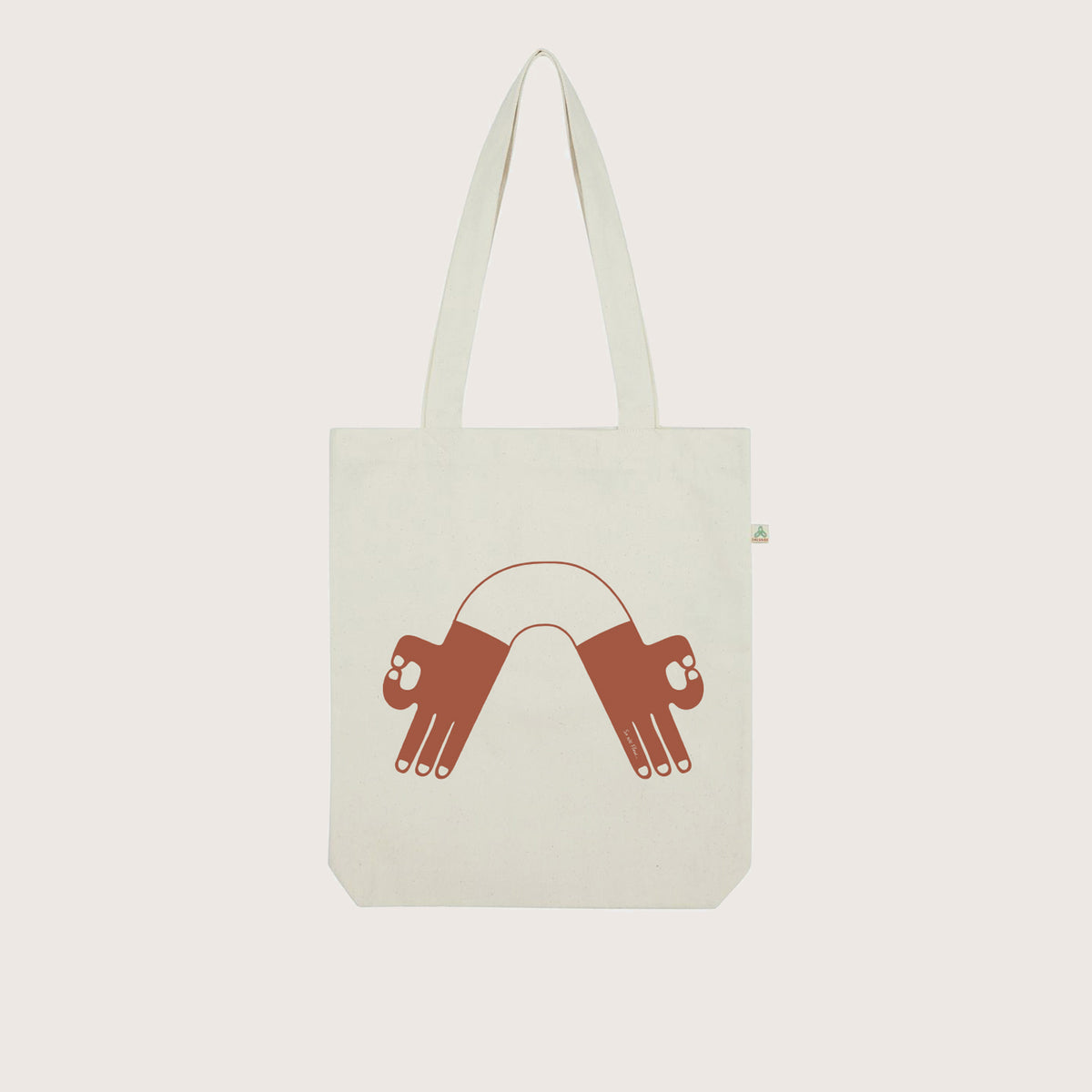 So We Flow... Recycled Plastic Bottle Tote Bag with Mudra graphic