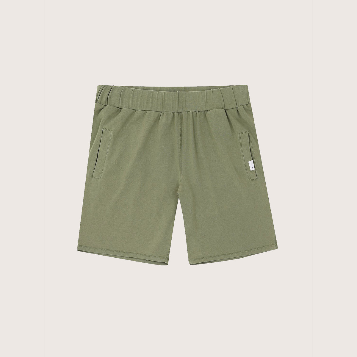 Jersey Shorts - Olive by So We Flow... Front