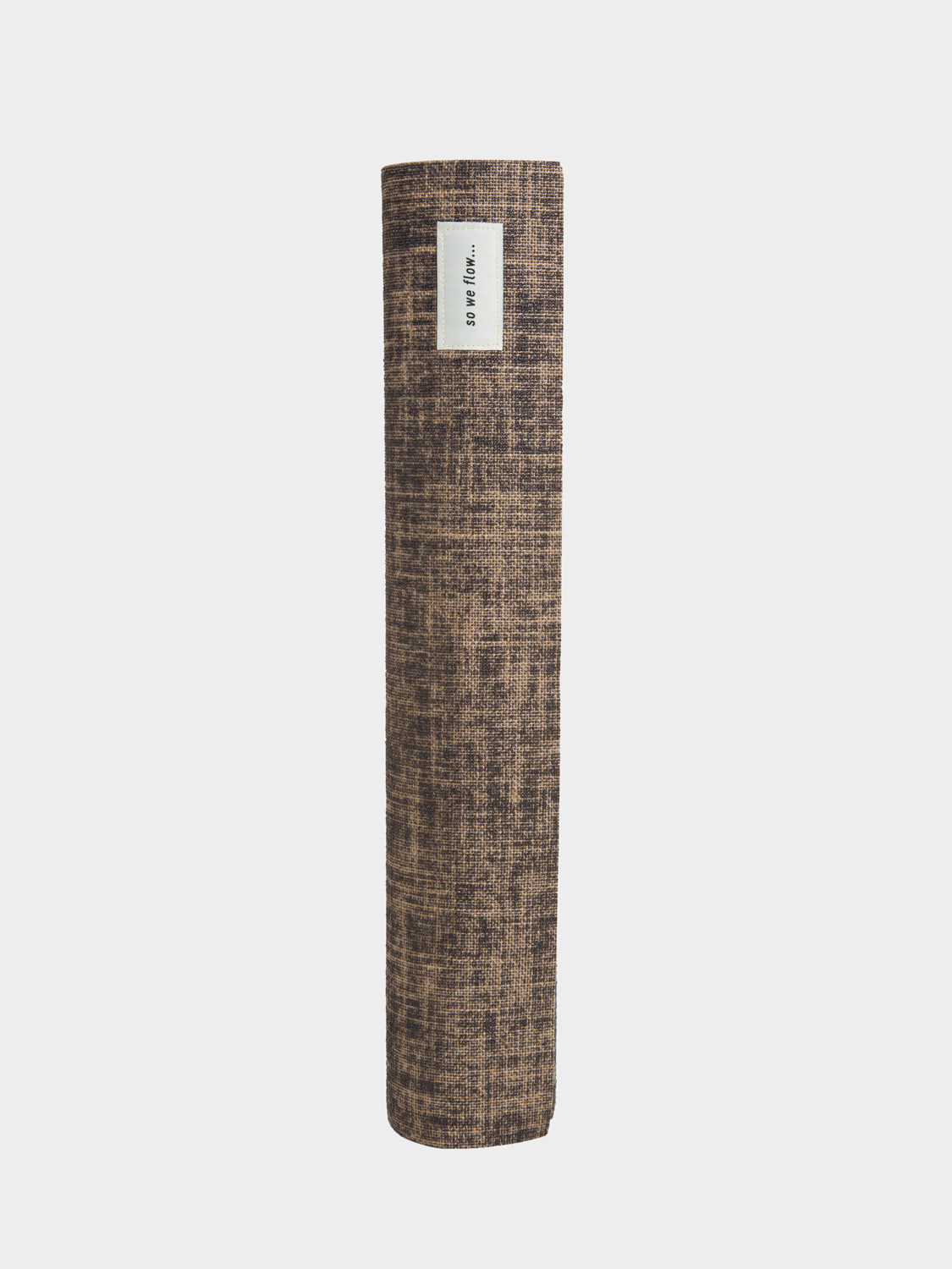 So We Flow... mens jute natural yoga mat rolled up