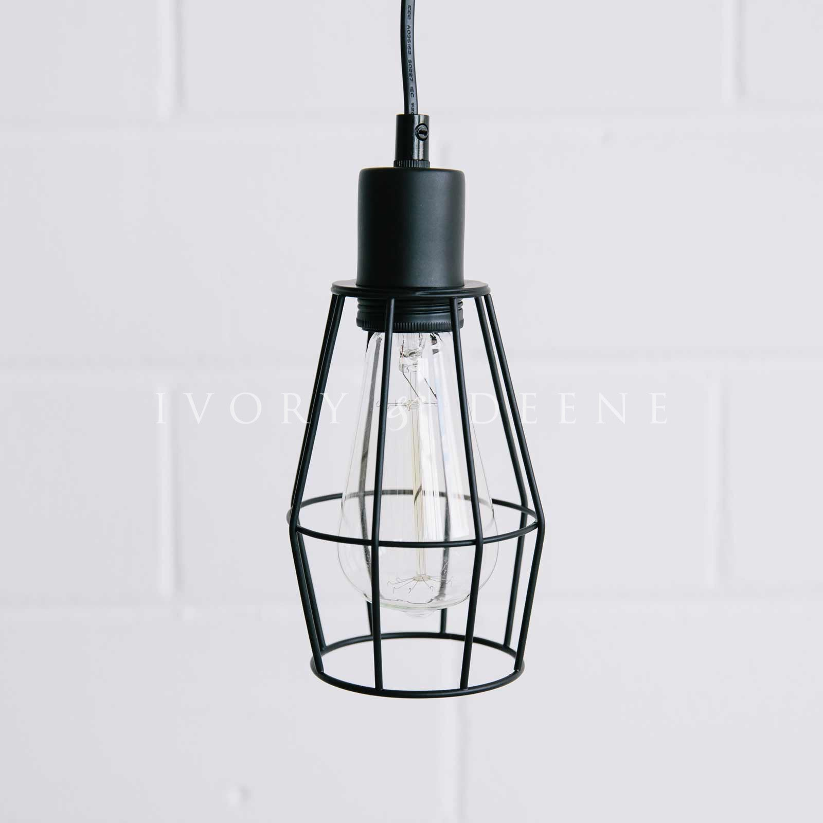 wire cage pendant light. Black-industrial-wire-pendant-light-long-cord Wire Cage Pendant Light