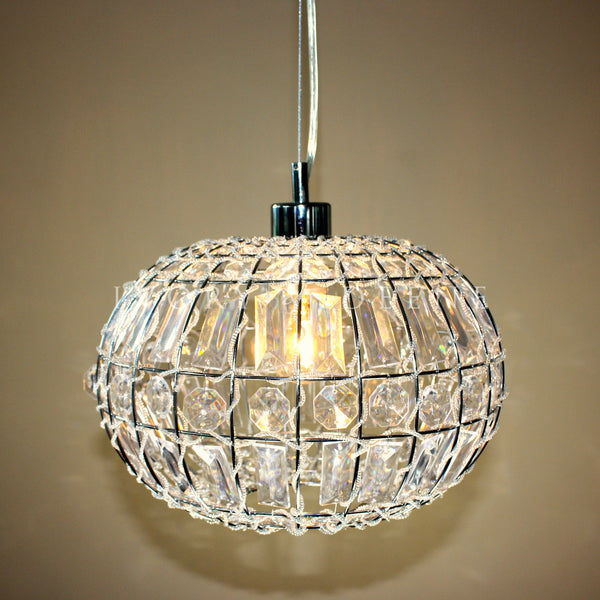 Excellent LILY PENDANT LIGHT Chic Round Crystal Ball Hanging Lamp – Ivory  ZL81