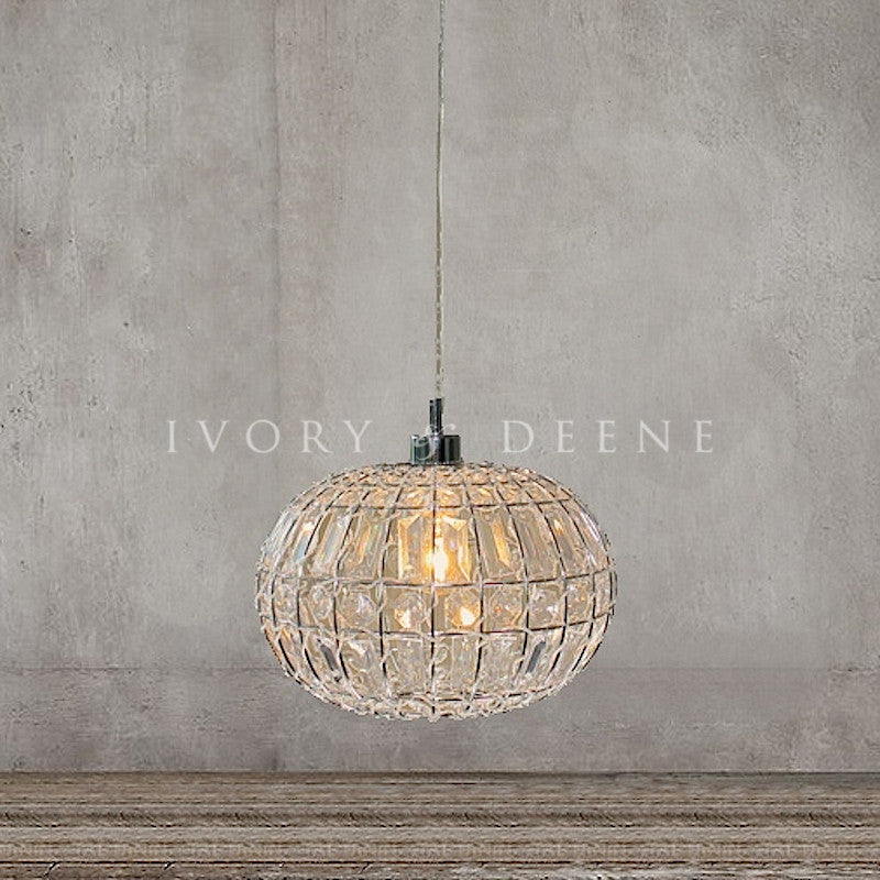 Lily pendant light chic round crystal ball hanging lamp ivory lily pendant light chic round crystal ball aloadofball Image collections