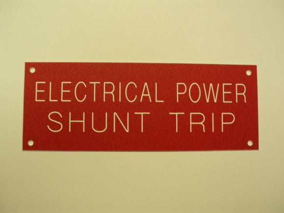 ELECTRICAL POWER SHUNT TRIP
