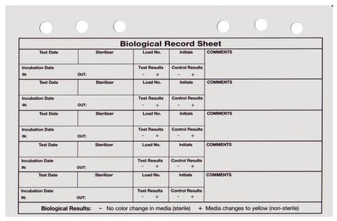 Biological Indicator (Record notebook 25/pk)