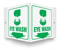 TRIANGULAR EYE WASH SIGN