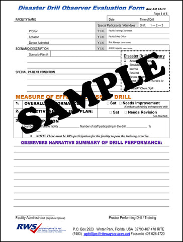RWS-Disaster Drill Evaluation Form Rev 5.0 12