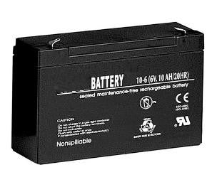 Emergency Light Battery  (6 volt 10Ah AGM VRLA)