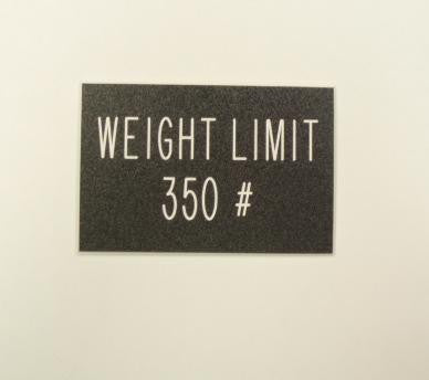 Weight Limit 350 #