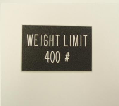 Weight Limit 400 #